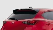 Spoiler tylny dachowy polakierowany w kolorze Brilliant black (PZ) QDJE519N0PZ, Mazda2 DJ1, Mazda2 DJ1 (2020)