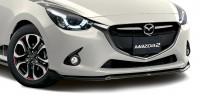 Spoiler przedni pod zderzak polakierowany w kolorze Brilliant black (PZ) QDJE50AH0APZ, Mazda 2 DJ1