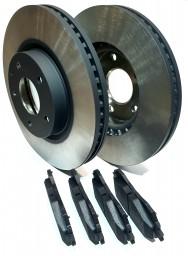Zestaw tarcz oraz klocków hamulcowych na oś przednią Mazda CX5 BENZYNA/DIESEL
