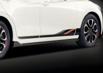 Spoilery boczne dolne polakierowane w kolorze Brilliant black (PZ) QDJE51P10APZ (+10szt. T00156053), Mazda2 DJ1, 2 DJ1 (2020)